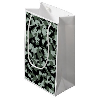 Military Green Camouflage Pattern Small Gift Bag