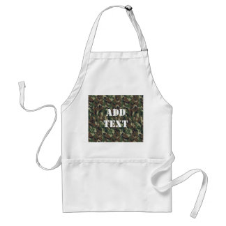 Military Green Camouflage Pattern Standard Apron
