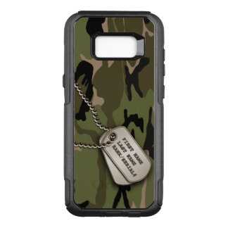 Military Green Camouflage with Dog Tags OtterBox Commuter Samsung Galaxy S8+ Case