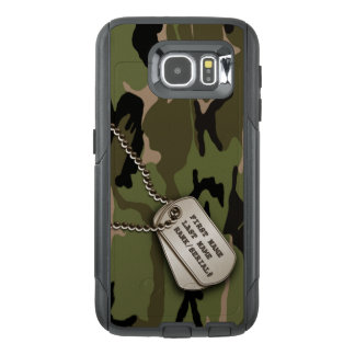 Military Green Camouflage with Dog Tags OtterBox Samsung Galaxy S6 Case