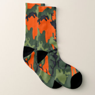 Military Green Orange Camouflage Como Army Print 1