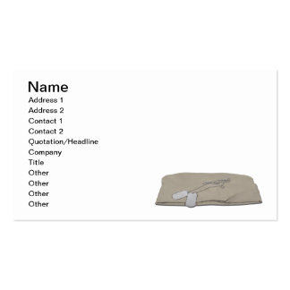 Military Hat Dog Tags Business Card