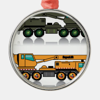 Military heavy crane truck christmas ornament