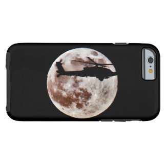 Military Helicopter Against the Moon at Night Tough iPhone 6 Case