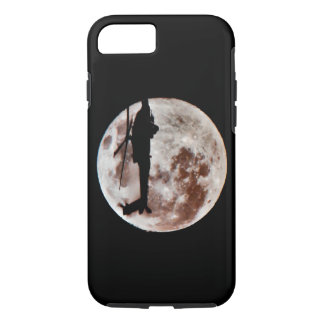 Military Helicopter Against the Moon at Night iPhone 7 Case
