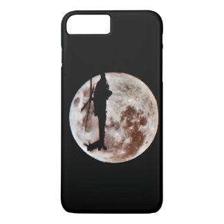 Military Helicopter Against the Moon at Night iPhone 7 Plus Case