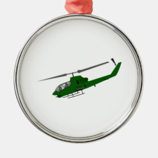 Military Helicopter Christmas Tree Ornament