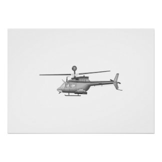 Military Helicopter Print