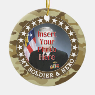 Military Hero - Camouflage Design DOUBLE-SIDED Christmas Ornament