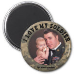 Military Hero: I Love My Soldier Photo Frame Magnet