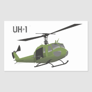 Military Huey Helicopter Sticker