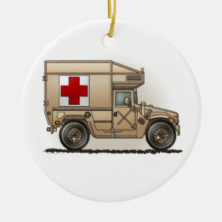 Military Hummer Ambulance Ornament