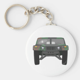 Military Humvee H1 Basic Round Button Key Ring