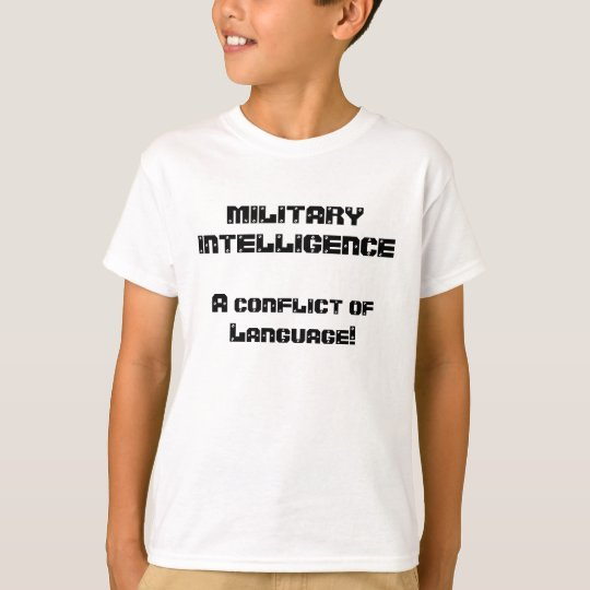 Military Intelligence Joke T-Shirt