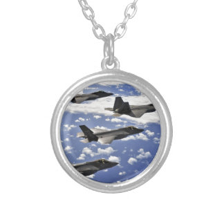 Military jest round pendant necklace