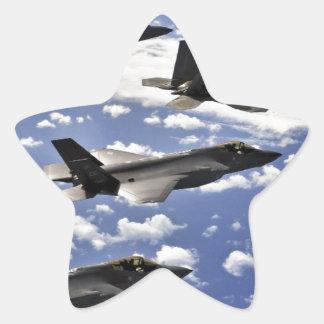 Military jest star sticker