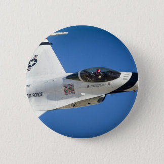 Military jet 6 cm round badge