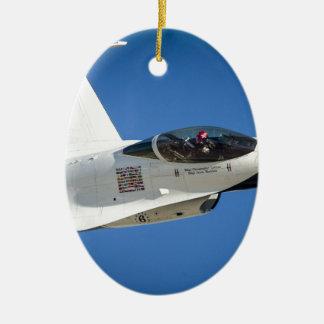 Military jet ceramic oval decoration