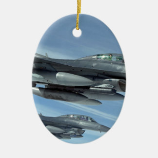 military jet ceramic oval decoration