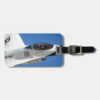 Military jet luggage tag