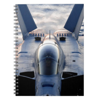 Military jet note book