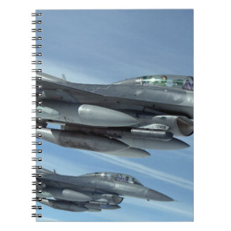 military jet spiral note books