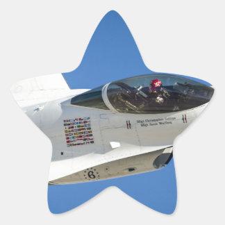 Military jet star sticker
