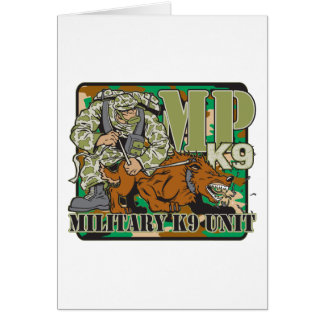 Military K9 Unit Greeting Card