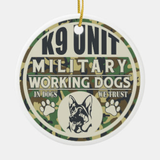 Military K9 Unit Working Dogs Christmas Ornament