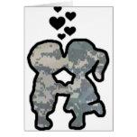 Military Kisses Greeting Card