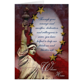 Military Liberty Welcome Home Greeting Card Greeting Card