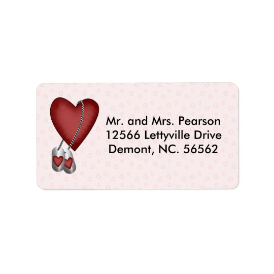 Military Love Address Label