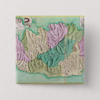 Military map of Corsica, 1768 15 Cm Square Badge