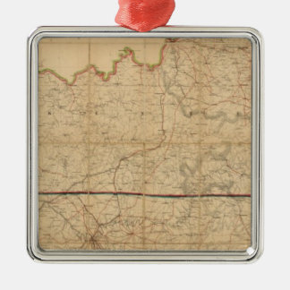 Military Map of the States of Kentucky Christmas Ornament