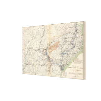 Military map, WT Sherman Canvas Print