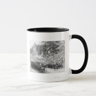 Military Men in Rows on Horseback Photograph Mug