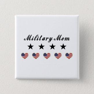 Military Mom 15 Cm Square Badge