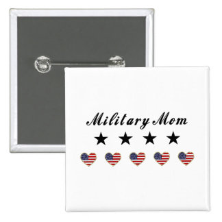 Military Mom 15 Cm Square Badge