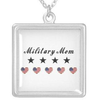 Military Mom Square Pendant Necklace