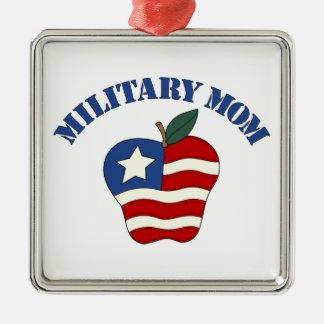 Military Mom Patriotic Apple Ornaments