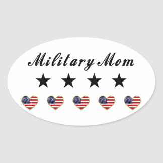 Military Mom Oval Sticker