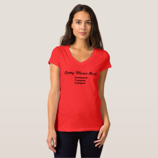 Military Moms Rock - Red Friday Pride T-Shirt