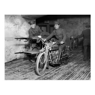 Military Motorcycle EMT 1910s Post Card