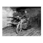 Military Motorcycle EMT, 1910s Postcard