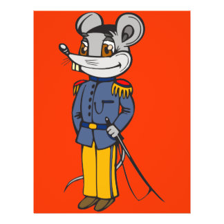 Military Mouse Solider 21.5 Cm X 28 Cm Flyer