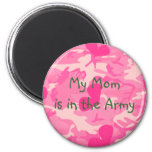 Military Mum Pink Camouflage Magnet