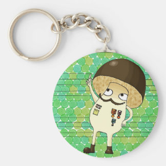 Military mushroom key ring