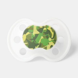 Military Nature Camo Bold  Colorful Pattern Baby Pacifiers