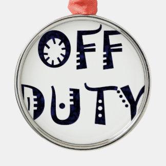 military Off Duty Black Christmas Ornaments