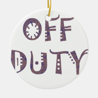 military Off Duty Black white yellow nice grey Christmas Tree Ornament